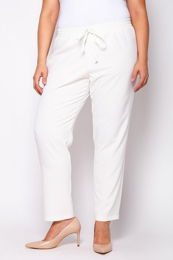 Monochrome crepe trousers