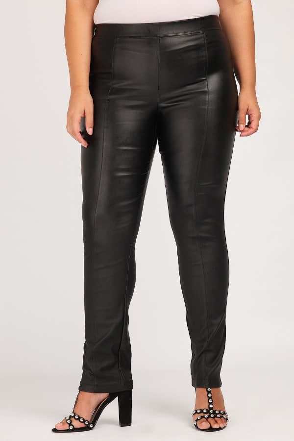 Treggings from leather like