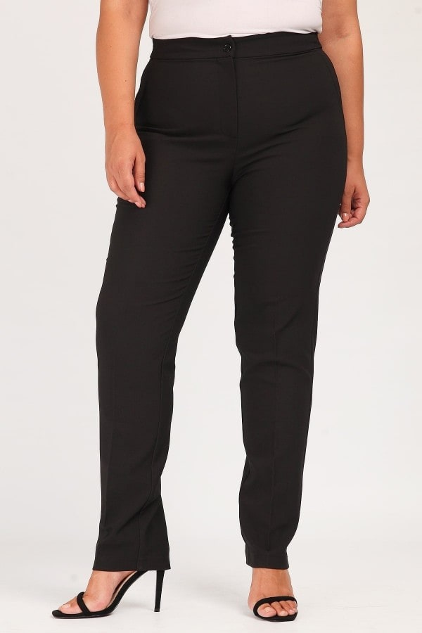 Trousers with lurex waistband