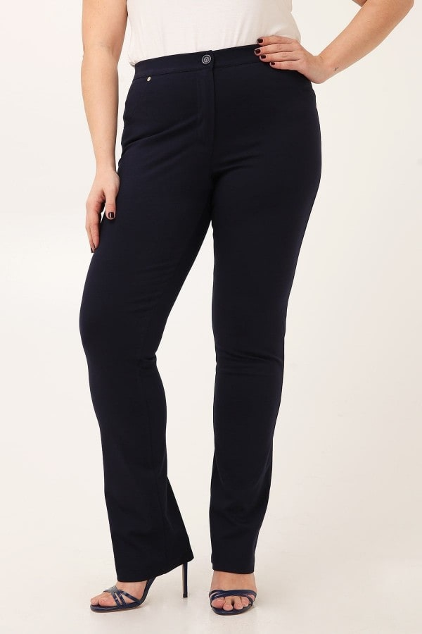 Slim trousers punto roma