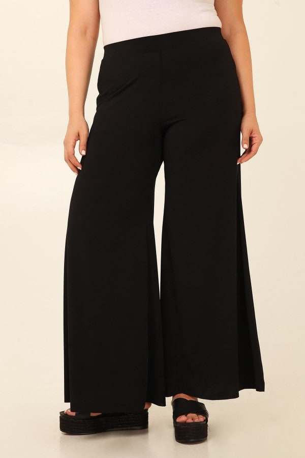 Wide leg bell bottom trousers