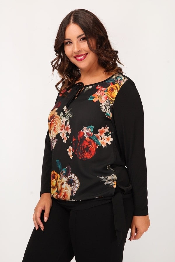 Printed front blouse