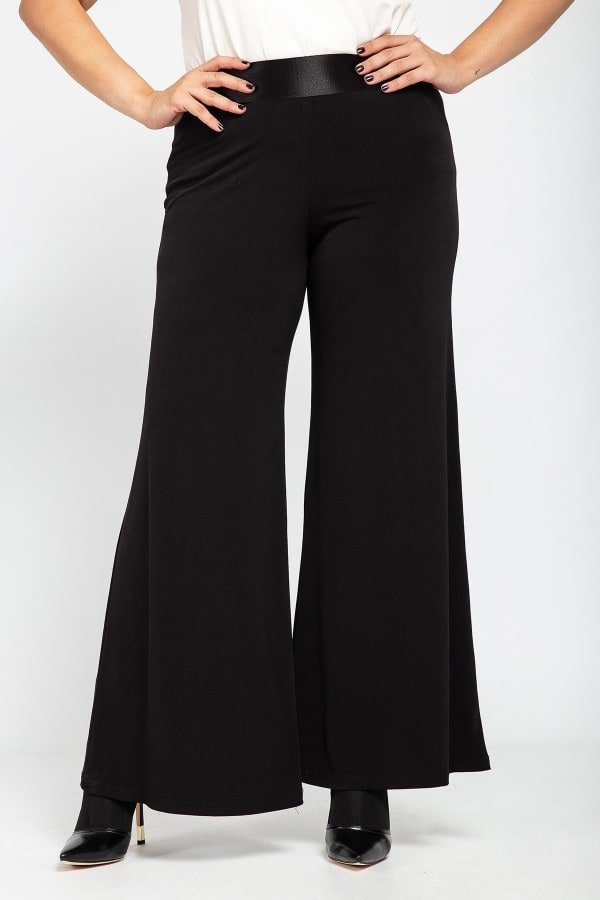 Palazzo trousers with elastic waistband