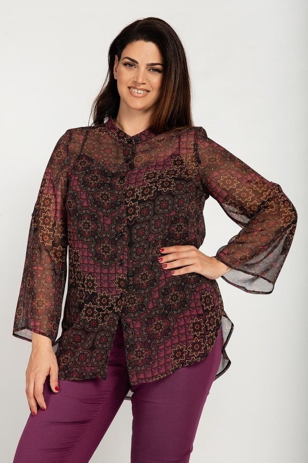 Printed shirt with top