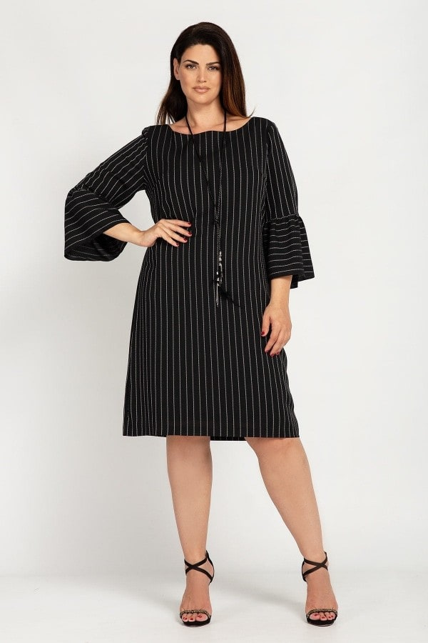 Striped midi dress  pendant
