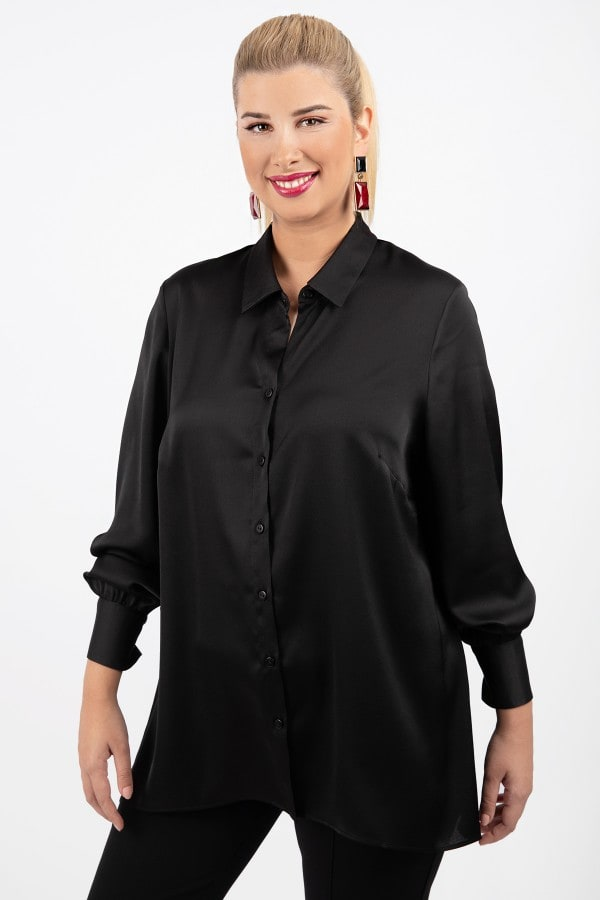 Monochrome sateen shirt