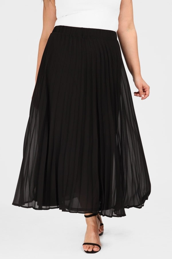 Pleated skirt in A line