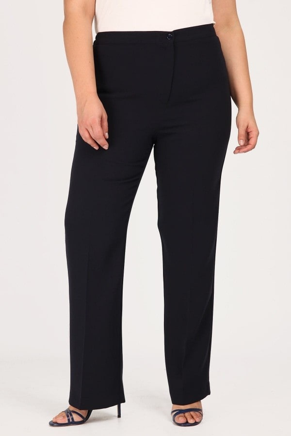 Classic crepe trousers with elastic waist