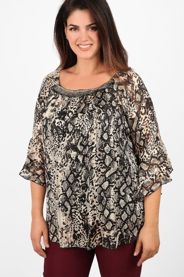 Printed blouse from georgette