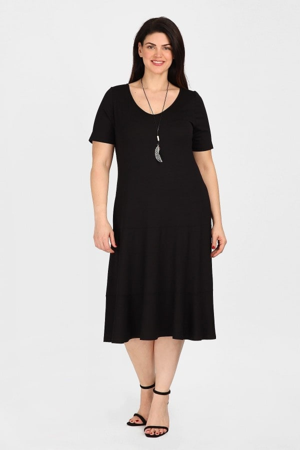 Skater midi dress with necklace