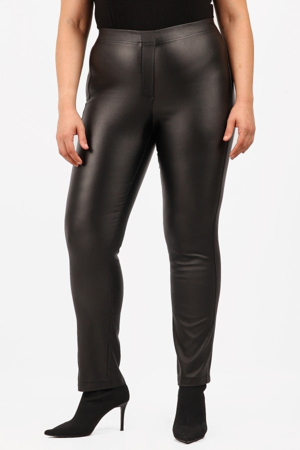 Leather like treggings