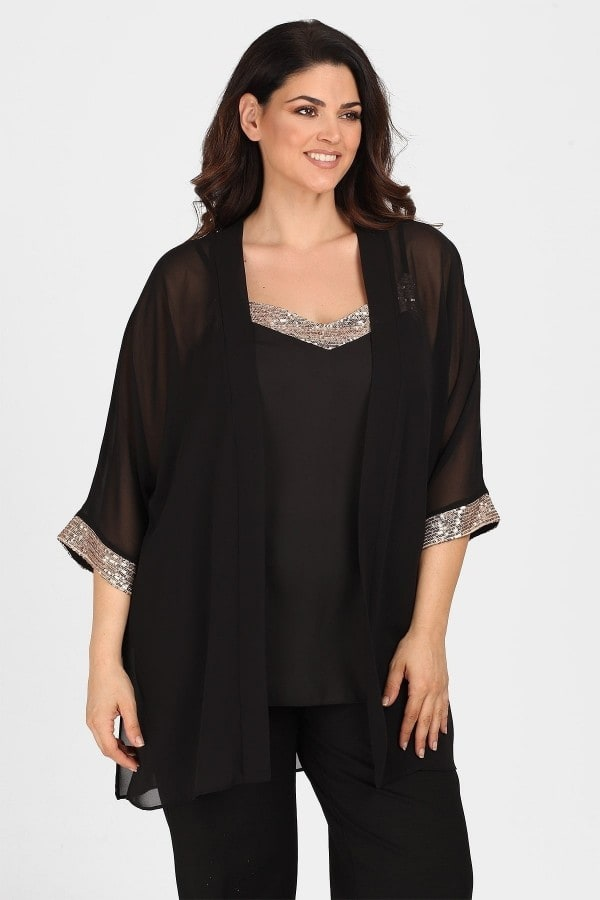 Twin set evening cardigan  top with sequins