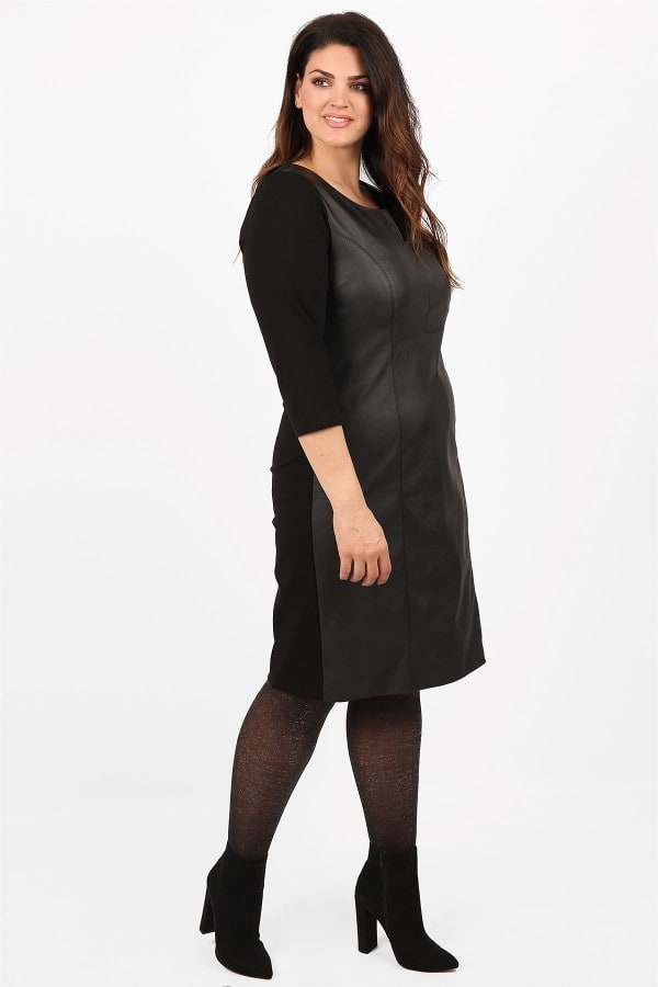Midi dress in leather like view