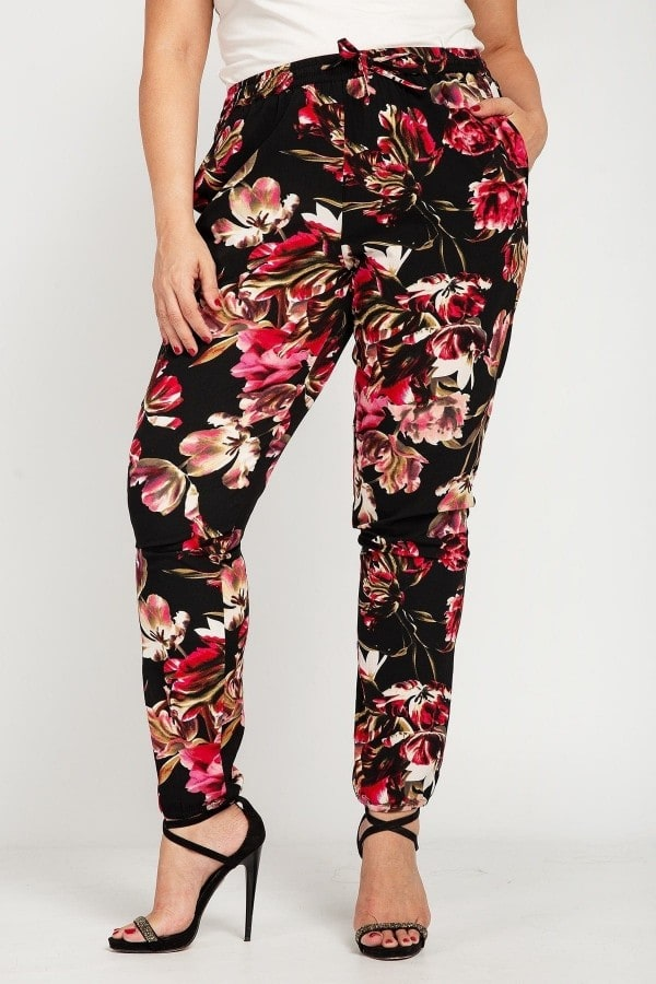 Jogger floral trousers