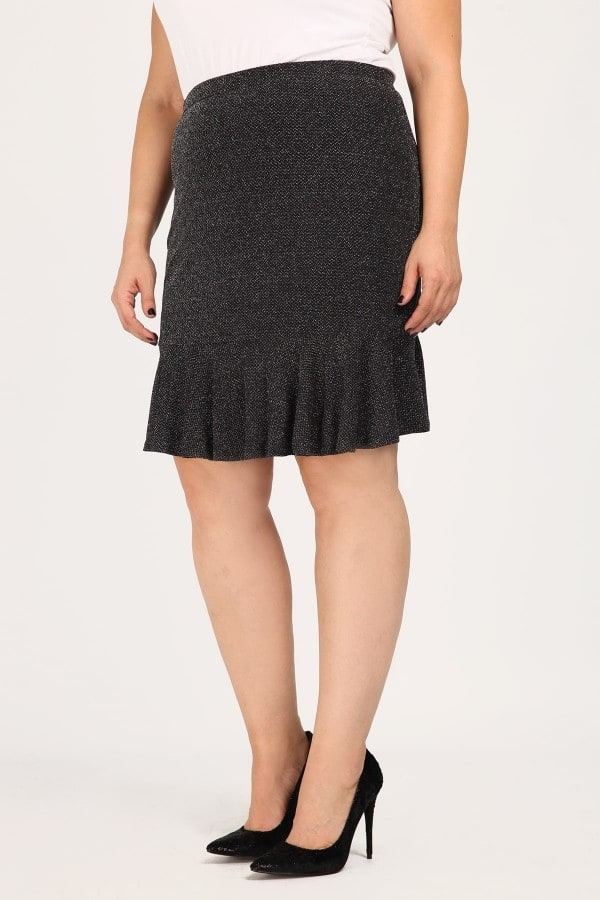 Flare lurex skirt