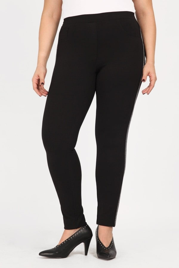 Treggings with glittered plackets