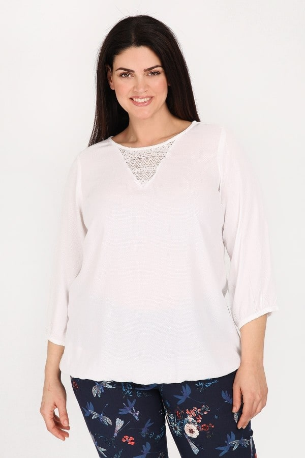 Viscose blouse with shirred details
