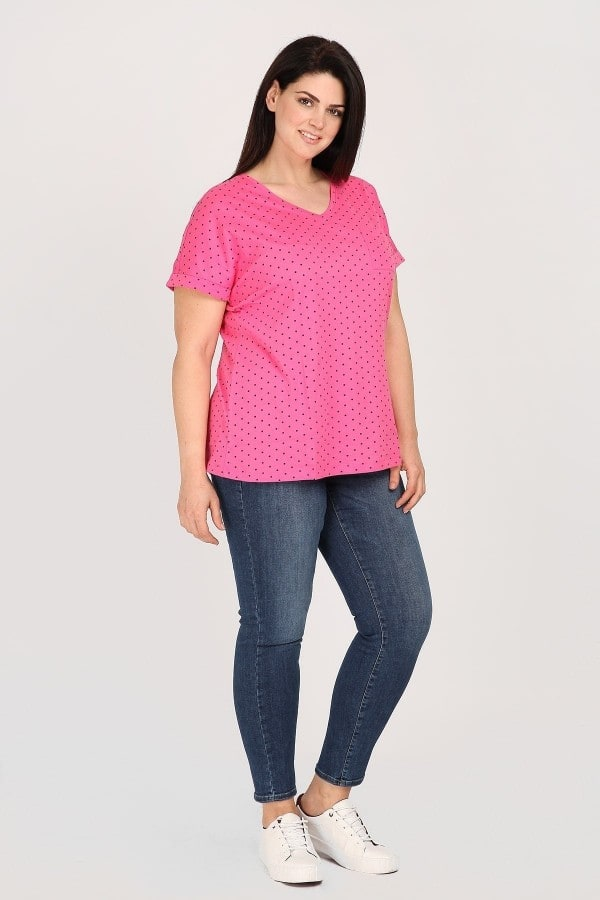 Shortsleeved polka dots top
