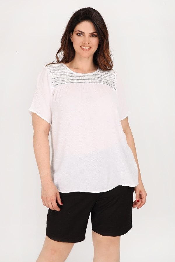 Viscose top with lurex and sequins