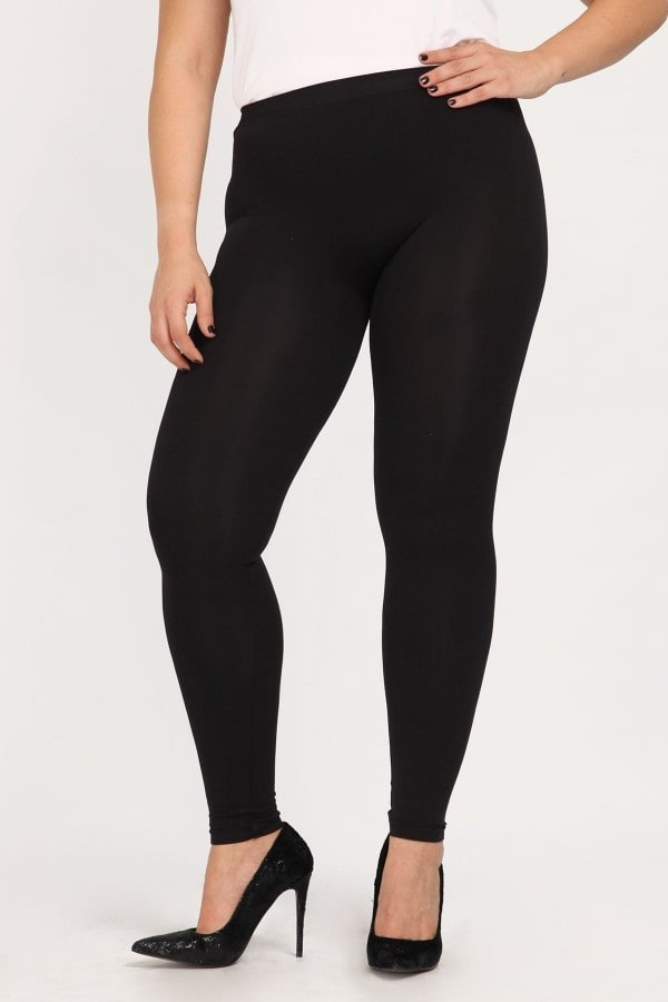Long semi-sheer leggings