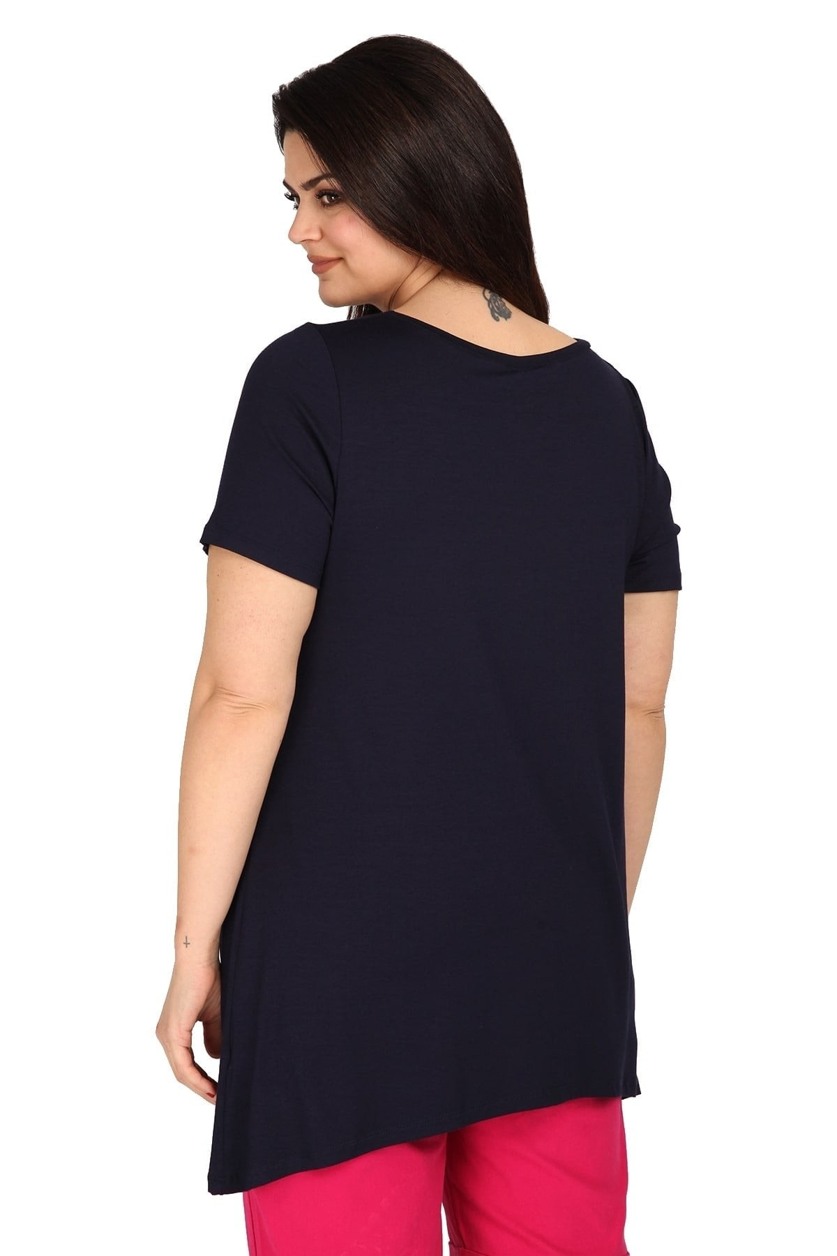 Blusa larga de viscosa