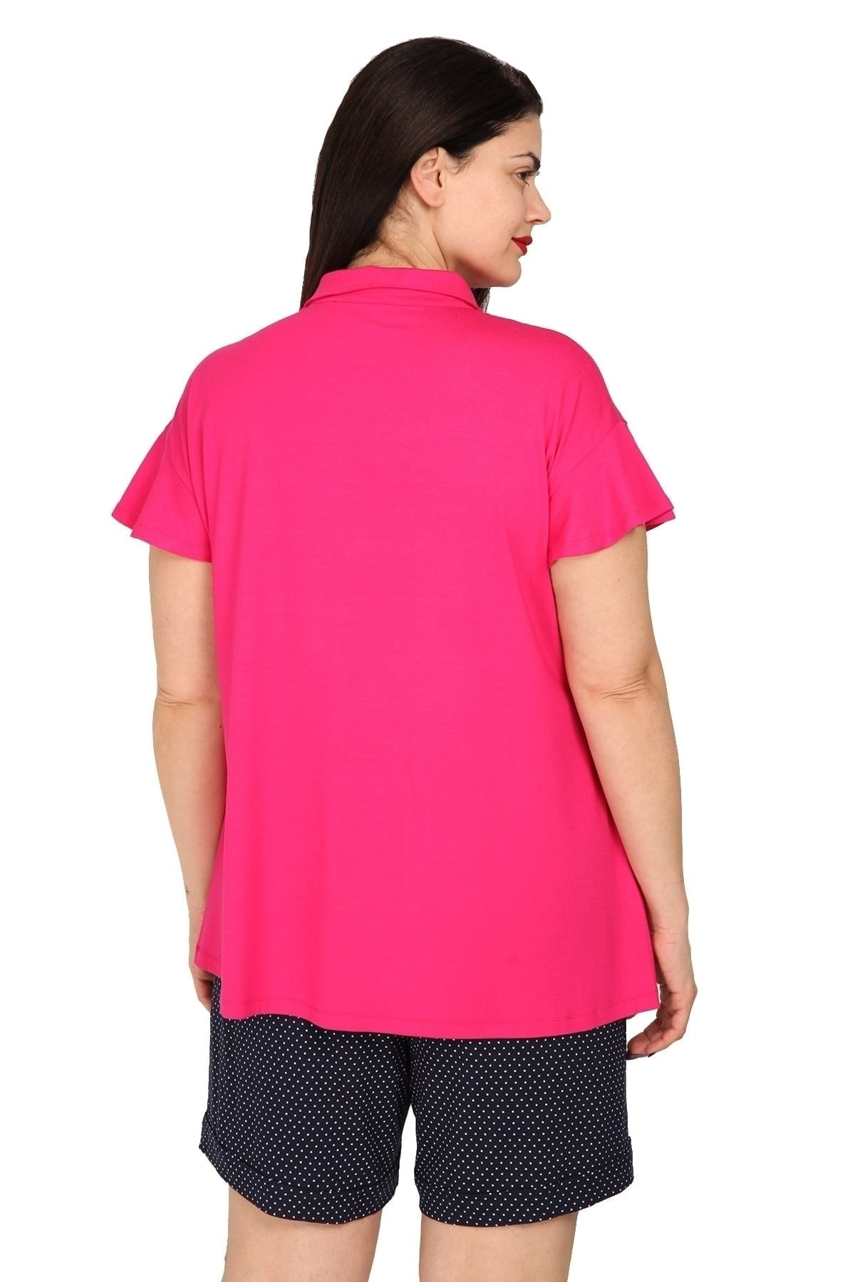 Shirt with flounced sleeves